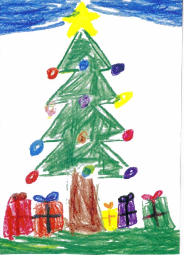 Christmas tree artwork