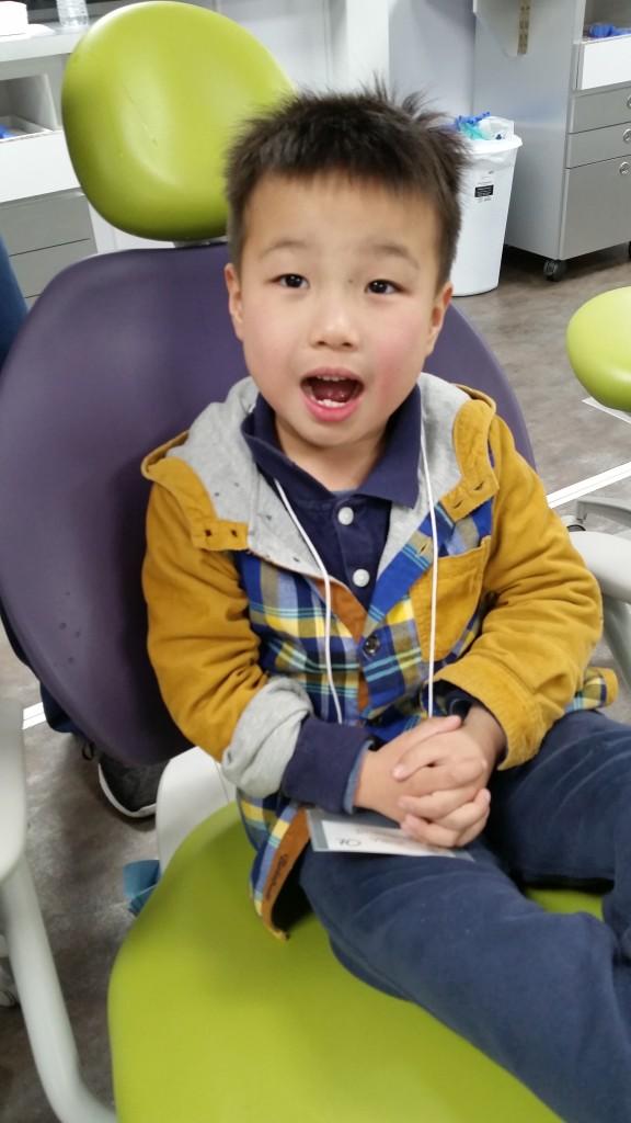 Asian boy w mouth open